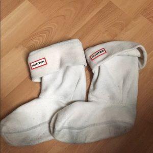 Short white hunter boots socks